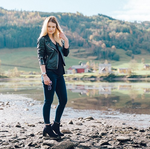 Tiny Twisst Leather Jacket Norway-FI